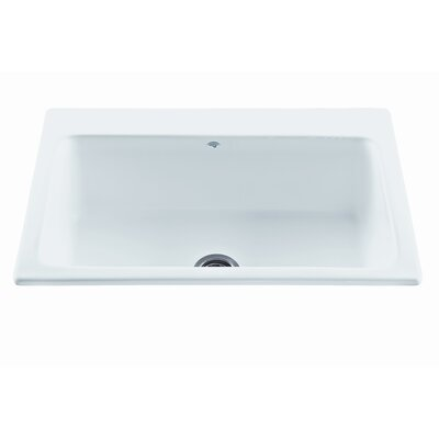 Reliance 33 x 22.25 Reflection Single Bowl Kitchen Sink Finish: White, Faucet Drillings: 1 Hole