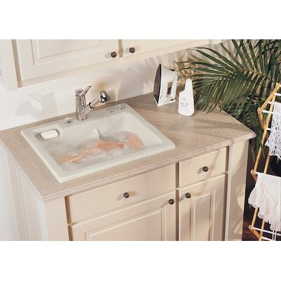 "Reliance Whirlpools Reliance 25"" x 22"" Jentle Jet Laundry Sink - Finish: Sterling Silver at Sears.com"