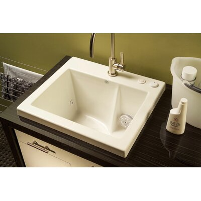 "Reliance Whirlpools Reliance 25"" x 22"" Jentle Jet Laundry Sink - Finish: Ice Gray at Sears.com"