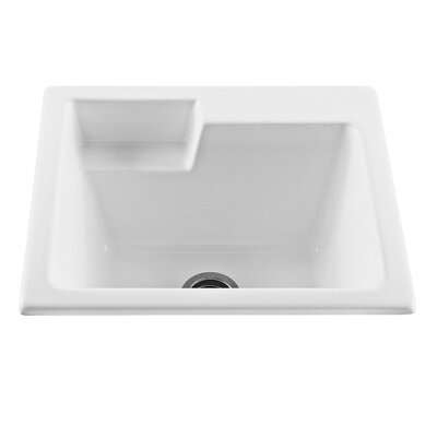 25 x 22 Single Reliance Universal Laundry Sink Sink Finish: Biscuit