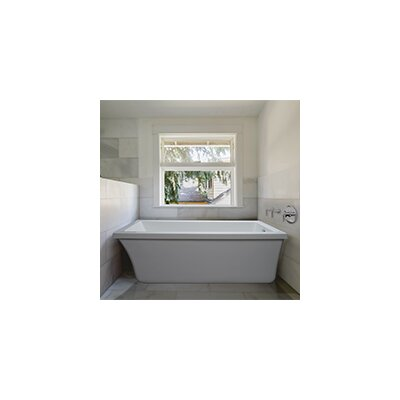 End Drain Freestanding 65.5 x 32 Soaking Tub with Virtual Spout Finish: White