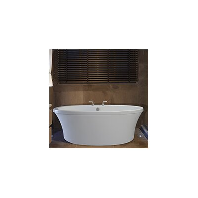 Center Drain Freestanding 66 x 36.75 Soaking Tub with Virtual Spout and Deck for Faucet Finish: Biscuit