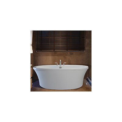 Center Drain Freestanding 66 x 36.75 Soaking Tub with Deck for Faucet Finish: Biscuit