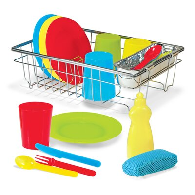 23 Piece Let's Play House! Wash and Dry Dish Set 4282
