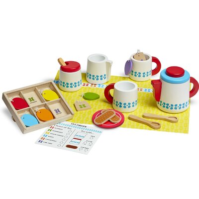 22 Piece Wooden Steep and Serve Tea Set 9843