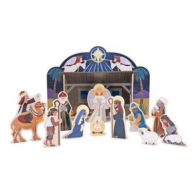 Melissa & Doug Wooden Nativity Figurine Set 3858