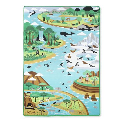 Jumbo Habitats Activity Blue Area Rug