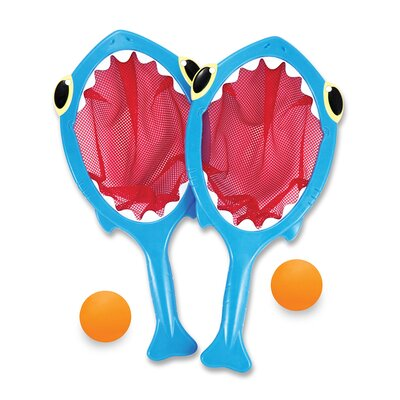 Melissa and Doug 4 Piece Spark Shark Toss and Catch Pool Game 6658