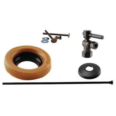 Toilet Kit with Stop and Wax Ring Lever Handle Finish: Oil Rubbed Bronze