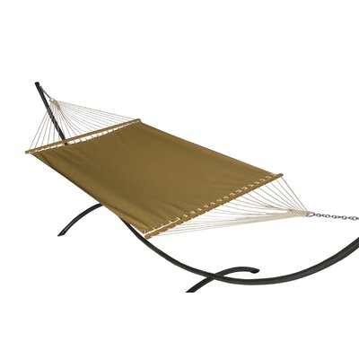 Phat Tommy Sunbrella Hammock with Stand Color: Brass, Base Color: Pewter