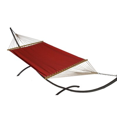 Phat Tommy Sunbrella Hammock with Stand Color: Jockey Red, Base Color: Pewter