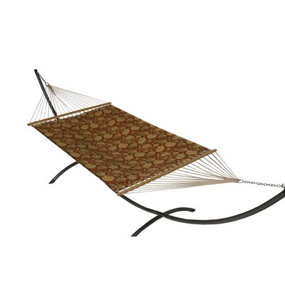 Phat Tommy Sunbrella Hammock with Stand Color: Newbury Sunset, Base Color: Pewter