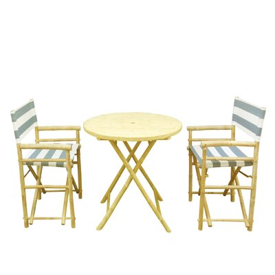Phat Tommy 3 Piece Bistro Set Color: Blue