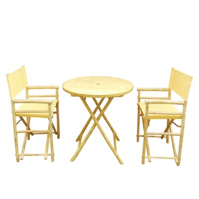 Phat Tommy 3 Piece Bistro Set Color: Yellow