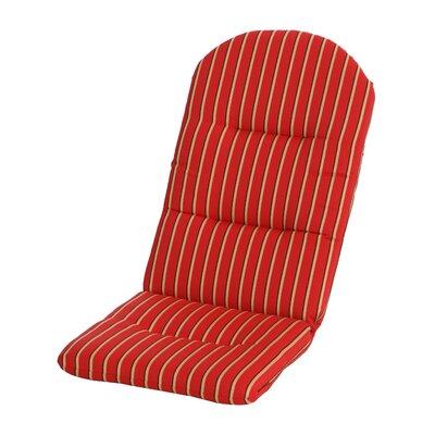 Phat Tommy Outdoor Sunbrella Adirondack Chair Cushion Color: Crimson