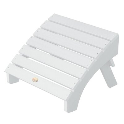 Phat Tommy Folding Ottoman Finish: White