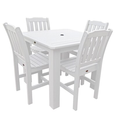 Phat Tommy 5 Piece Dining Set Finish: White, Table Size: 42 L x 42 W x 30 H
