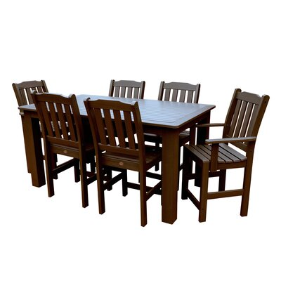 Phat Tommy 7 Piece Dining Set Table Size: 72 L x 36 W x 36 H, Finish: Charleston Green