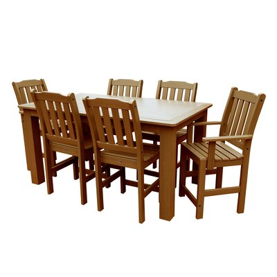 Phat Tommy 7 Piece Dining Set Table Size: 72 L x 36 W x 36 H, Finish: Toffee