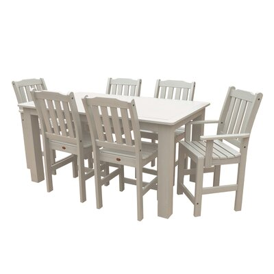 Phat Tommy 7 Piece Dining Set Table Size: 72 L x 36 W x 36 H, Finish: White Wash