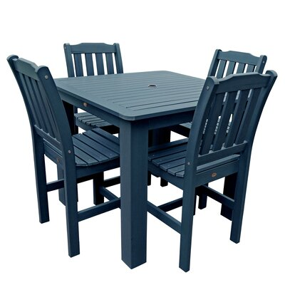Phat Tommy 5 Piece Dining Set Table Size: 42 L x 42 W x 36 H, Finish: Nantucket Blue