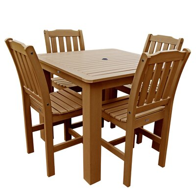 Phat Tommy 5 Piece Dining Set Table Size: 42 L x 42 W x 36 H, Finish: Toffee