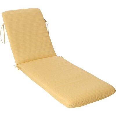 Phat Tommy Outdoor Sunbrella Chaise Lounge Cushion Color: Cornsilk