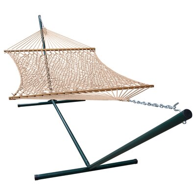 Phat Tommy Polyester Hammock with Stand Color: Tan