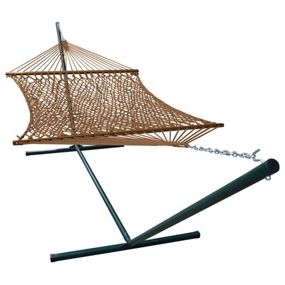 Phat Tommy Polyester Hammock with Stand Color: Mocha