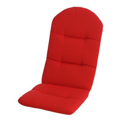 Phat Tommy Outdoor Sunbrella Adirondack Chair Cushion Color: Jockey Red