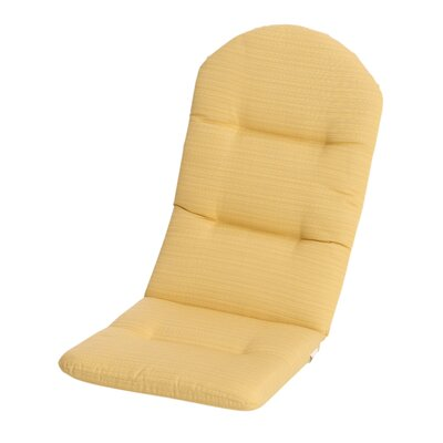 Phat Tommy Outdoor Sunbrella Adirondack Chair Cushion Color: Cornsilk