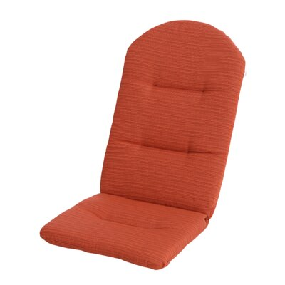 Phat Tommy Outdoor Sunbrella Adirondack Chair Cushion Color: Papaya