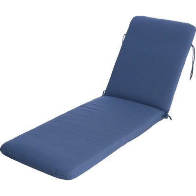 Phat Tommy Outdoor Sunbrella Chaise Lounge Cushion Color: Galaxy