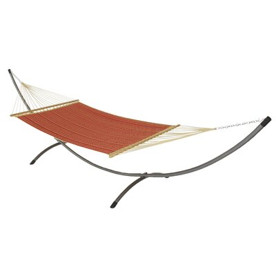 Phat Tommy Sunbrella Hammock with Stand Color: Crimson