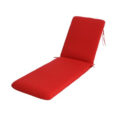 Phat Tommy Outdoor Sunbrella Chaise Lounge Cushion Color: Jockey Red