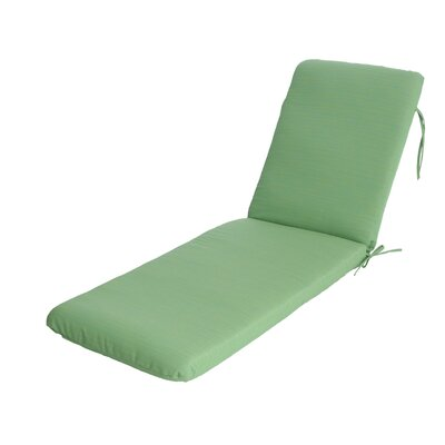 Phat Tommy Outdoor Sunbrella Chaise Lounge Cushion Color: Paradise