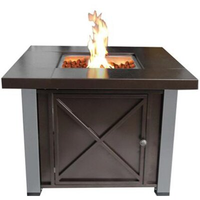 Phat Tommy Propane/Butane Decorative Fire Pit Finish: Hammered Bronze with Stainless Steel Legs