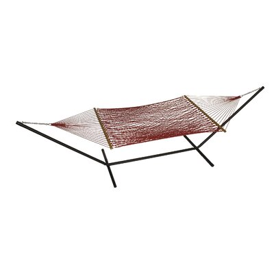 Phat Tommy Polyester Hammock with Stand Color: Cranberry
