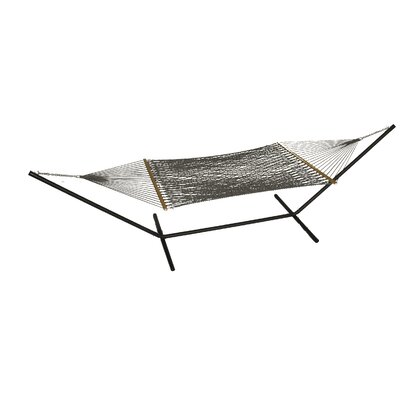 Phat Tommy Polyester Hammock with Stand Color: Graphite