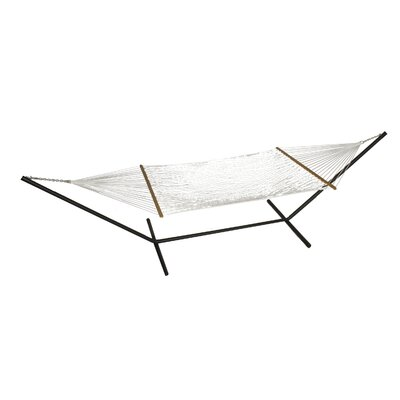 Phat Tommy Polyester Hammock with Stand Color: White