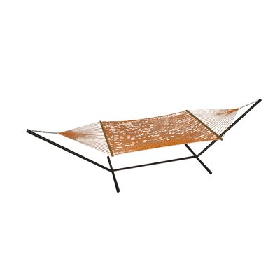 Phat Tommy Polyester Hammock with Stand Color: Carrot