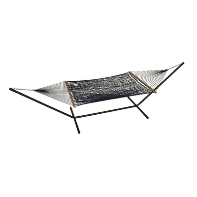 Phat Tommy Polyester Hammock with Stand Color: Navy