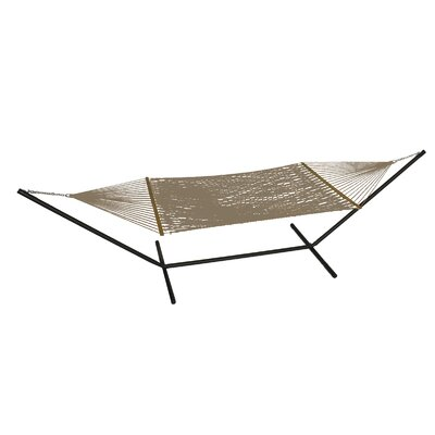 Phat Tommy Polyester Hammock with Stand Color: Sandstone