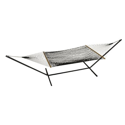 Phat Tommy Polyester Hammock with Stand Color: Black
