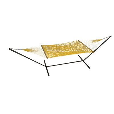 Phat Tommy Polyester Hammock with Stand Color: Lemon