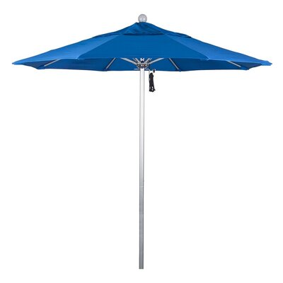 7.5 Phat Tommy Silver Anodized Market Umbrella Fabric: Pacific Blue