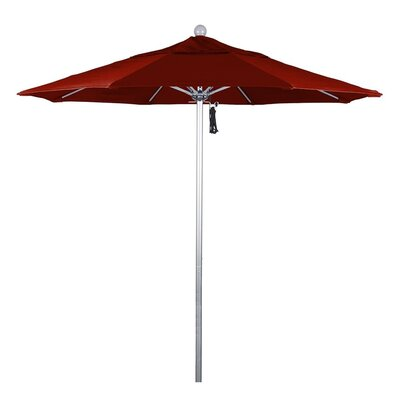 7.5 Phat Tommy Silver Anodized Market Umbrella Fabric: Brick