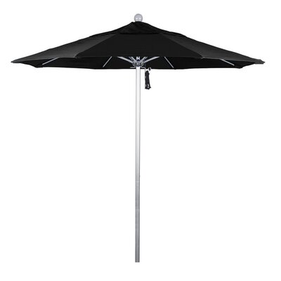 7.5 Phat Tommy Silver Anodized Market Umbrella Fabric: Black