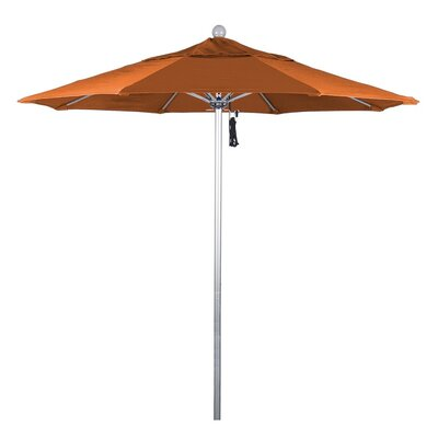 7.5 Phat Tommy Silver Anodized Market Umbrella Fabric: Tuscan