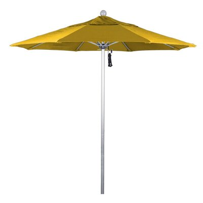7.5 Phat Tommy Silver Anodized Market Umbrella Fabric: Yellow